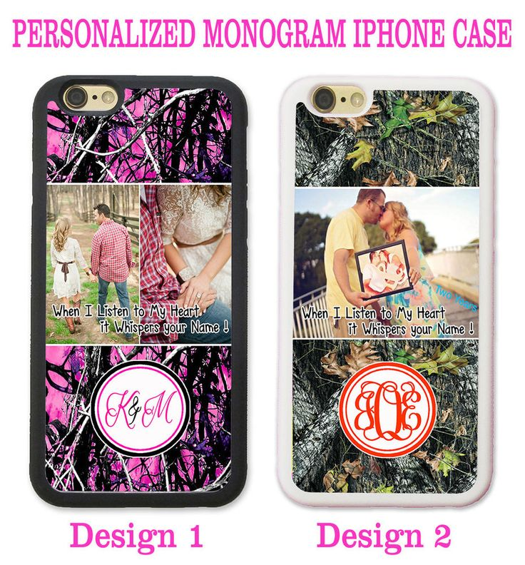 PINK CAMO TREE CUSTOMIZED LOVE FAMILY PHOTO PHONE Case For iPhone 6S 6S+ 7 SE 5S…