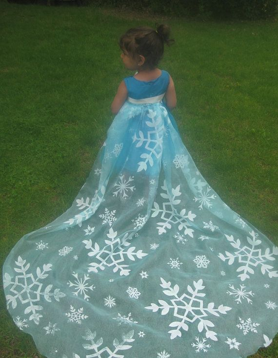 fabric to make your own Elsa cape from the by MyLovelyLivyLove, $13.50
