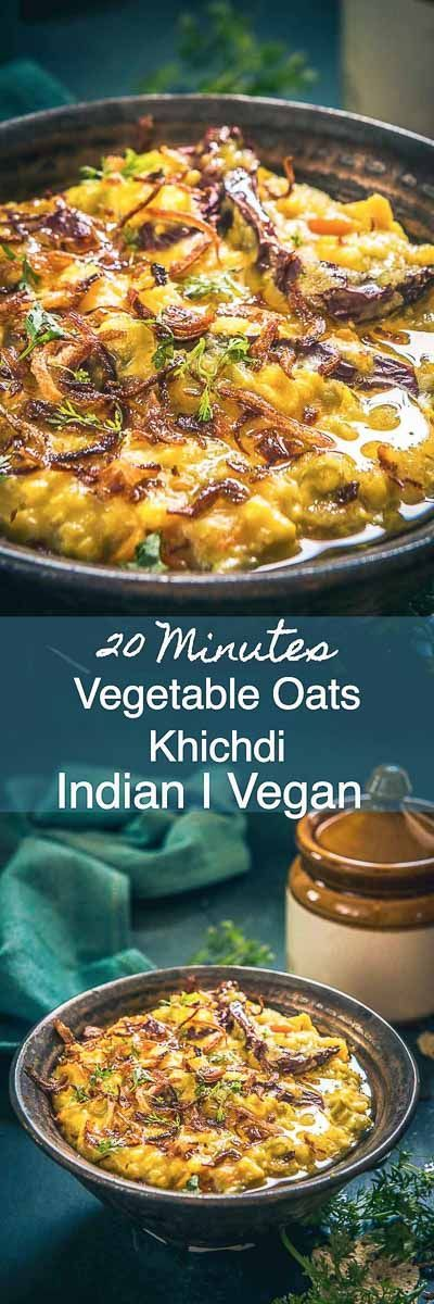 Vegetable Oats Khichdi is a nourishing dish loaded with veggies, moong dal and oats. Serve it along with Gujarati Kadhi and become its fan! Indian I Healthy I easy I Quick I Perfect I Best I Oats I Recipes I Recipe I Food I Lentils I
