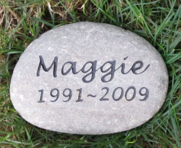 Pet Memorial Headstone Grave Marker Engraved Sandblasted River Stone for Dog Cat Pet 7-8 Inch Memorial Burial Pet Stone Gravestone Marker #burial_pet_stone #cat_memorials #dog_memorial_stone