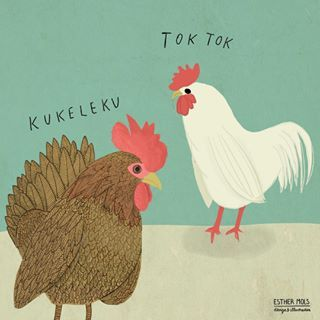 Did you know that animals talk different languages? These are Dutch. 😁 What do they say in your language? 🐔 Chicken and Rooster