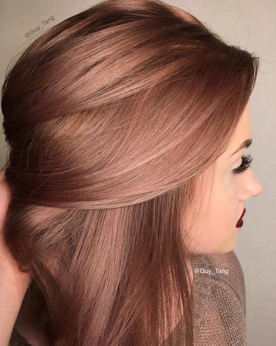 Coloration tendance: rose gold hair © Pinterest Christie Jackson