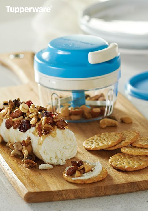 Fresh, fast and just the right amount of fancy. Simple ingredients amount to decadent snack in the Nutty Goat Cheese Spread made using the Chop 'N Prep Chef. Date your Consultant and make this at your next party.