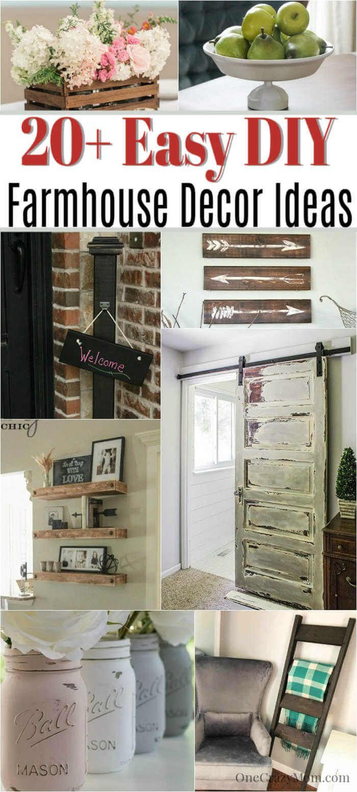 DIY Farmhouse Decor- 20 Easy DIY farmhouse decor Ideas