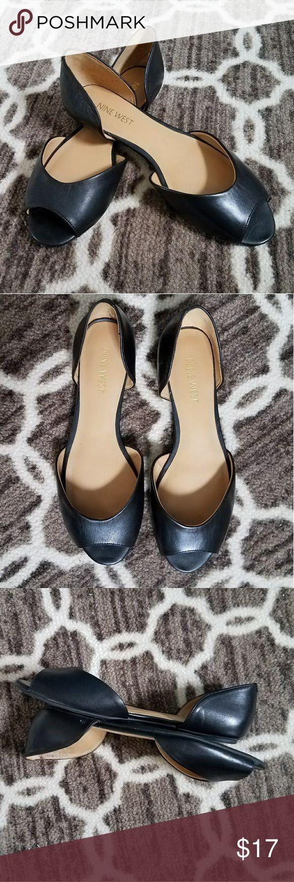 NWOT, Black peep toe flats Black peep toe flats, NWOT, Nine West Shoes Flats & Loafers