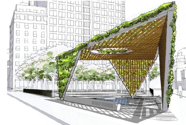 Studio a i Reimagines AIDS Memorial Park Design as a Fresh Green Triangular…