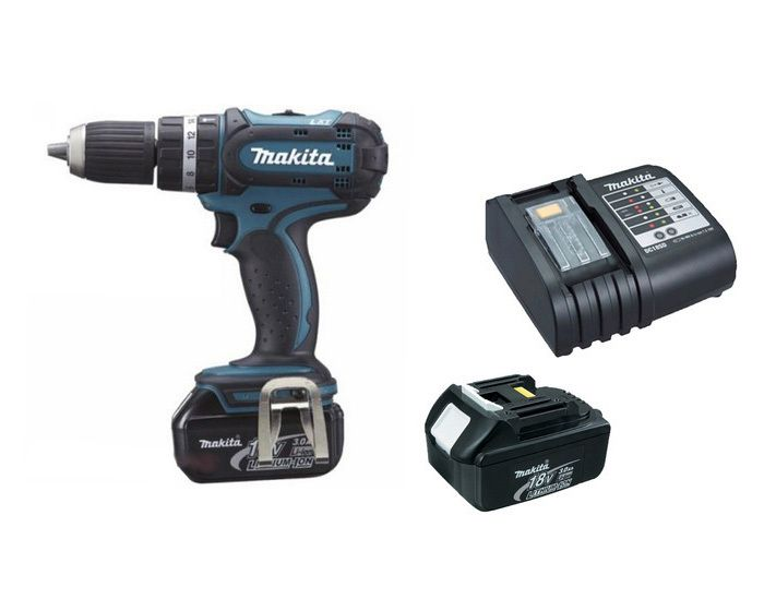 Makita BHP452SFE Hammer Drill Kit 18v :- Extremely compact and lightweight, with ample power for most fixing tasks All metal gears and gear change mechanism for maximum gearbox durability Mechanical 2-speed gearing