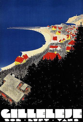Gilleleje Denmark Travel Vacation A3 Art Poster Print | eBay