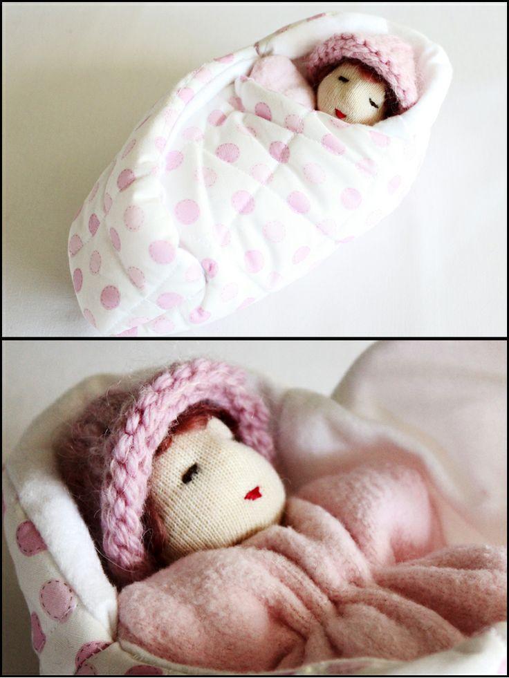 Pink Snugglepod Baby Bunting - Waldorf Toys.