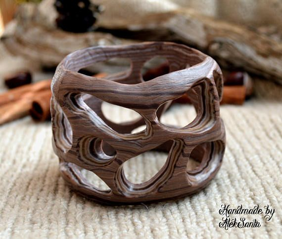 Boho bracelet Wide bracelet Fashion bracelet Brown bracelet