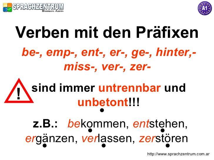 Es ist im Deutschen möglich, durch das Anfügen eines Präfixes an einfache Verben zusammengesetzte Verben zu bilden.   Die zusammengese...