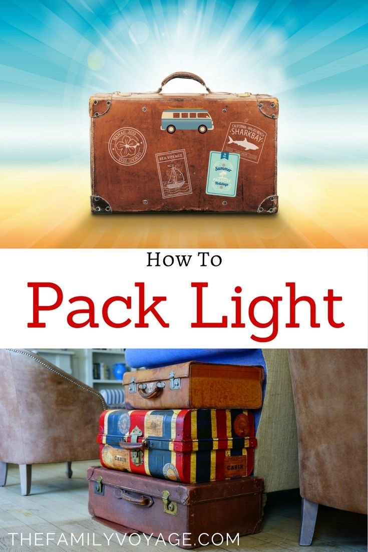 Are you struggling to fit everything in your luggage? Click to learn how to pack light for travel, whether it's solo travel or family travel.  Packing tips for vacation with kids | How to pack for vacation | How to pack light