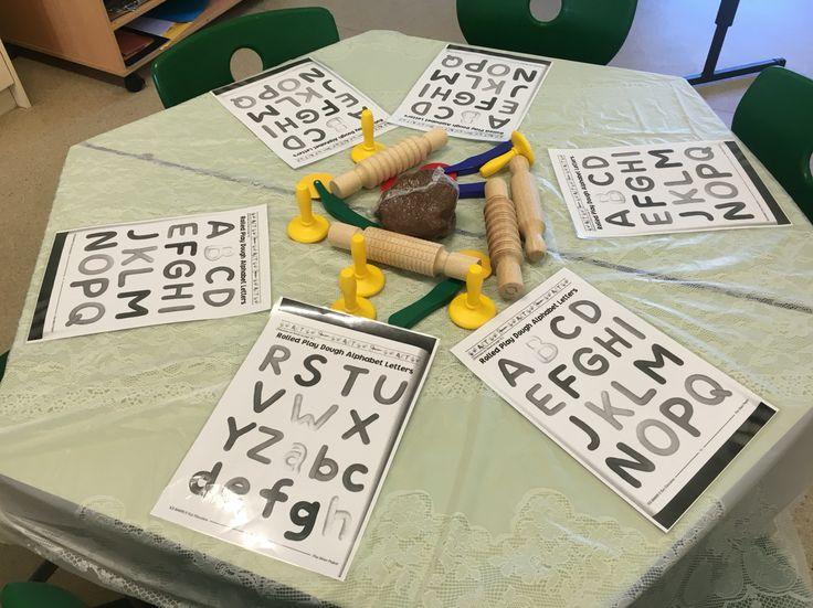 Alphabet play dough