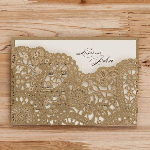 Gold-Laser-Cut-Wedding-Invitation-Blank-Pintable-Gilding-Kit-Envelopes-Stickers