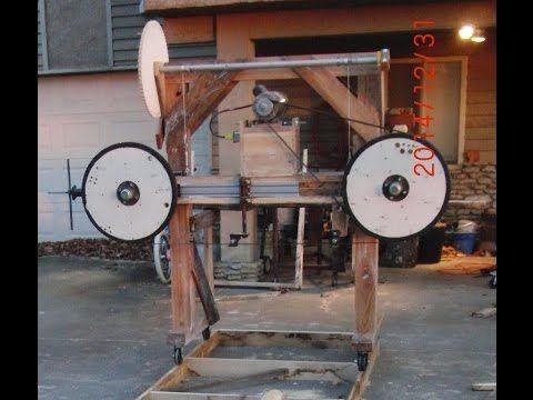 Homemade Wood Bandsaw mill walk around - YouTube