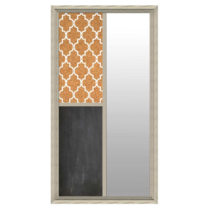 Full Length Floor Mirror, with Chalkboard and Corkboard