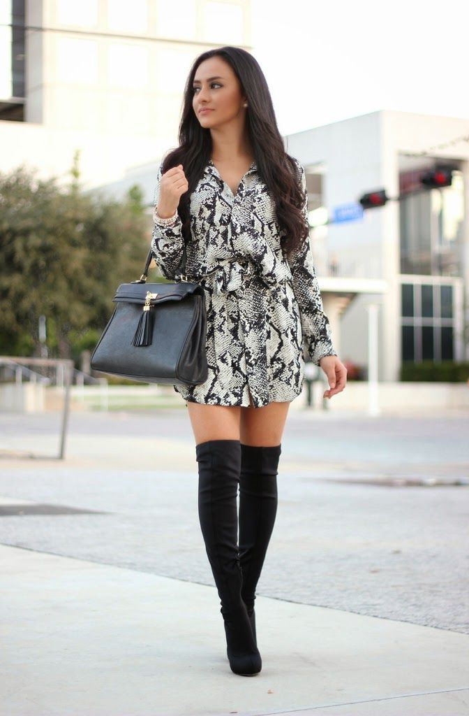 4a589570ad1f8 20 Super-Stylish Ways to Wear Knee-High Boots 2018 | FashionTasty.com