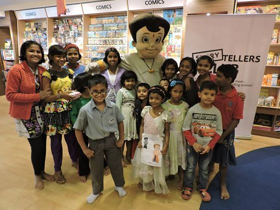 Chhota Bheem with the young gang