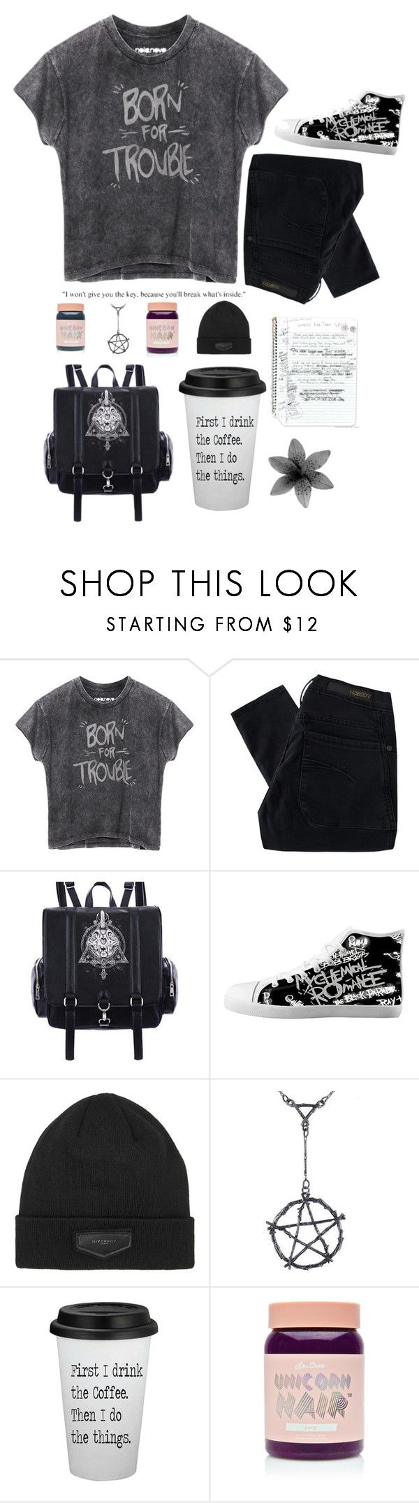 """""""// I knew you were trouble \\"""" by addicted-to-a-memory ❤ liked on Polyvore featuring Nobody Denim, Givenchy and Lime Crime"""