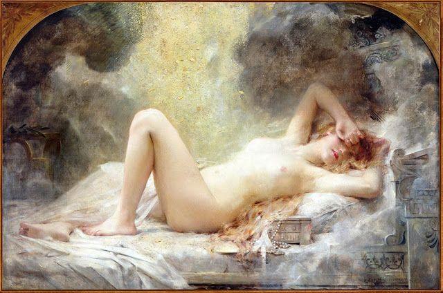 Δανάη και το ντους  με χρυσό Leon Comerre Fracois  (1908)