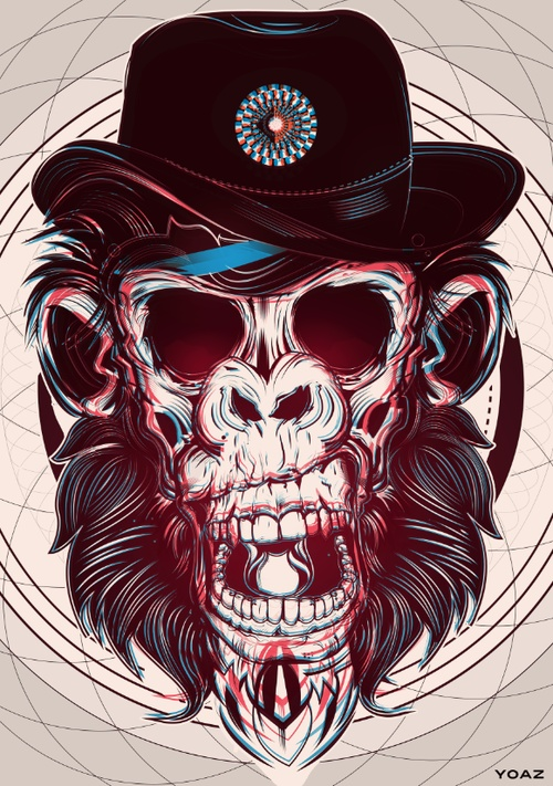 skulls by yo az, via Behance