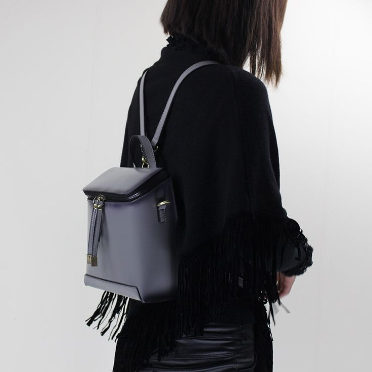 Genuine Leather backpack shoulder bag messenger bag for women leather crossbody bag 14065