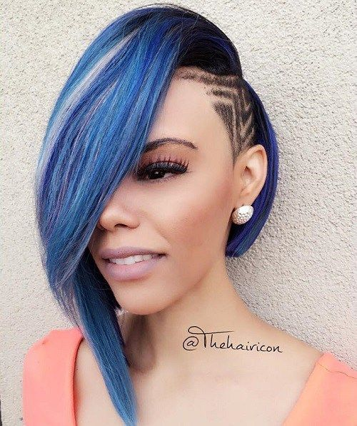 Asymmetrical Bob Weave With Undercut