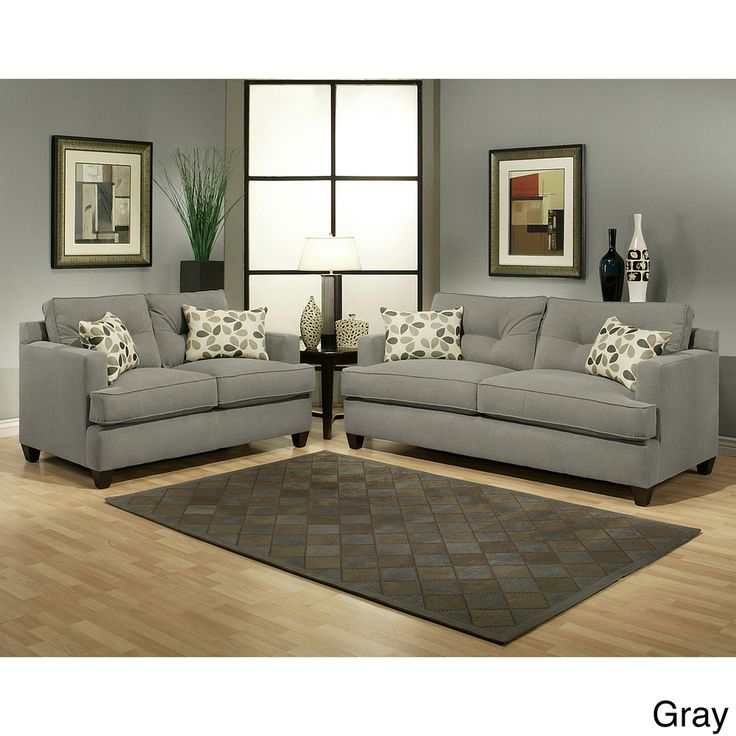 Furniture Of America Nicolas 2 Piece Micro Denier Fabric Sofa And Loveseat  Set By Furniture Of America