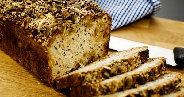 Ett bröd med honung och äpple som inte behöver någon jästid.     Perfekt till picknicken!