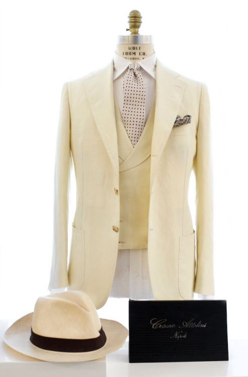 This outfit would be great with cream slacks with a thin blue or brown stripe.