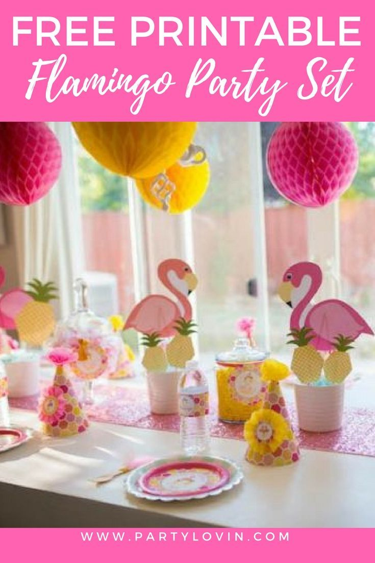 FREE PRINTABLES + Flamingo Party Ideas that Will Make your Party a Success
