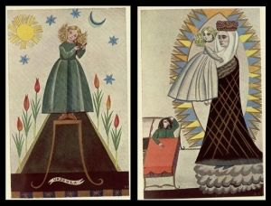 From the Polish childrens' book 'Treny' with illustrations by Zofia Stryjenska from 1930 (accompanying 16th century poetry by Jan by Naghma