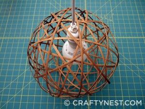 Tutorial for Bamboo Orb light re-using bamboo blinds