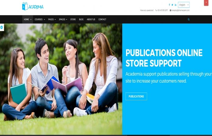 Academia - stunning educational #Joomla #template that fits perfect for #schools, colleges and #language centers.