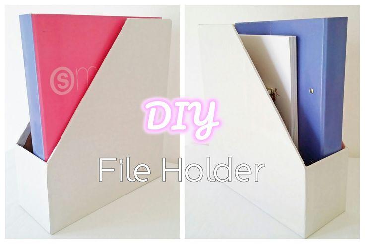 DIY File Holder | Φτιάξε αποθηκευτικό κουτί εγγράφων- περιοδικών