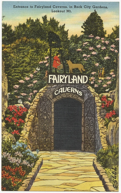 Entrance To Fairyland Caverns In Rock City Gardens