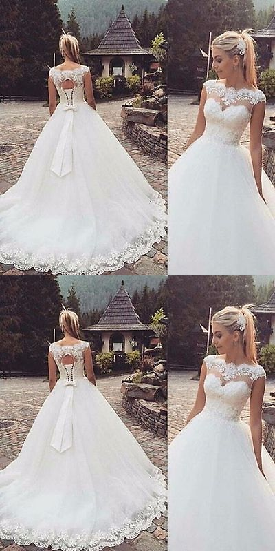 Wedding Dresses: New Lace White/Ivory Wedding Dress Bridal Gown Custom Size 4-6-8-10-12+++++ BUY IT NOW ONLY: $119.0