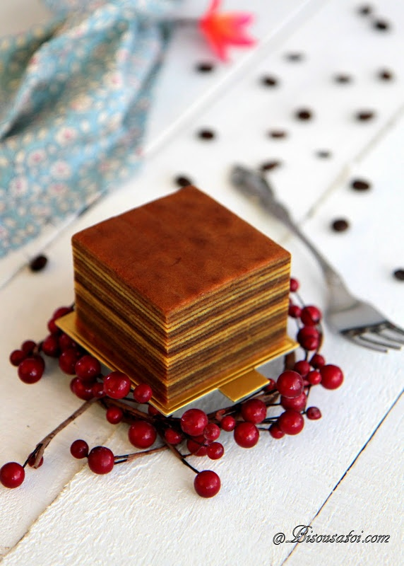 Mocha Latte Layer Cake - Looks too much to do, but not to try :)