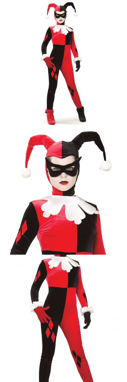 Halloween Costumes: Harley Quinn Costume Adult Female Super Villain Halloween Fancy Dress BUY IT NOW ONLY: $42.29
