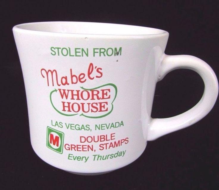 Vintage Mabel's Whorehouse Coffee Mug Las Vegas S & H Greenstamps Adult Humor