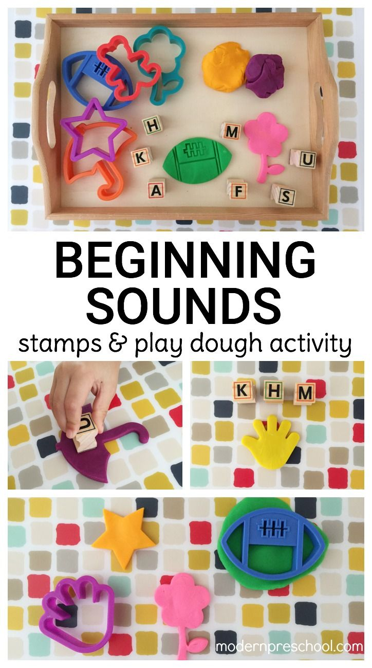 Practice identifying beginning initial sounds with this simple stamping activity using cookie cutter play dough cut-outs! Perfect for preschoolers and kindergarteners building pre-reading skills.