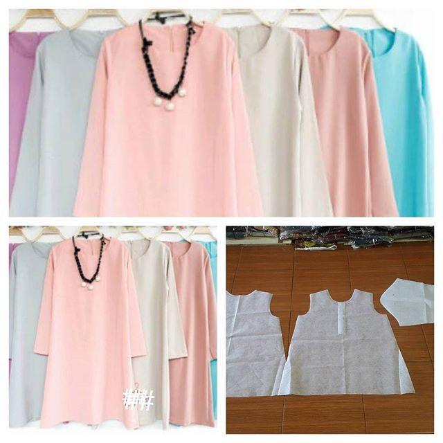 Basic tunic blouse pattern  Order via line : @modelliste (with @) #dresspattern#modellistepattern#poladress#jualpola#jasapola#polaonline#jasapolaonline#polaonlineshop#polabaju#jualpoladress#jasapembuatanpola#polablouse#polatunik#tunic#blousepattern#polaatasanwanita#polaatasan#polatunicbpouse