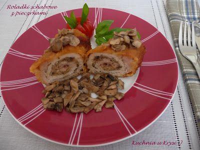 Kuchnia u Krysi  : Roladki schabowe nadziewane pieczarkami