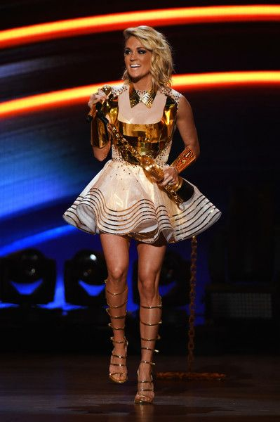 Carrie Underwood Photos Photos - Singer Carrie Underwood accepts the Female Vocalist of the Year award onstage during the 2016 American Country Countdown Awards at The Forum on May 1, 2016 in Inglewood, California. - 2016 American Country Countdown Awards - Show