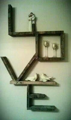 Amazing Diy Furniture Projects - I would put small framed pictures of family members around this!