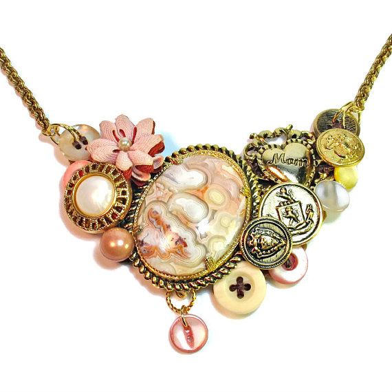 CLICK to see  Mom Necklace Statement Mothers Day Necklace Gift by BluKatDesign