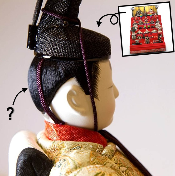 It was Hinamatsuri (the Japanese Doll Festival) last Sunday. We displayed ornamental dolls to celebrate. See how glossy the emperor doll's hair is!    must have used MOVING RUBBER  Cool Wet.