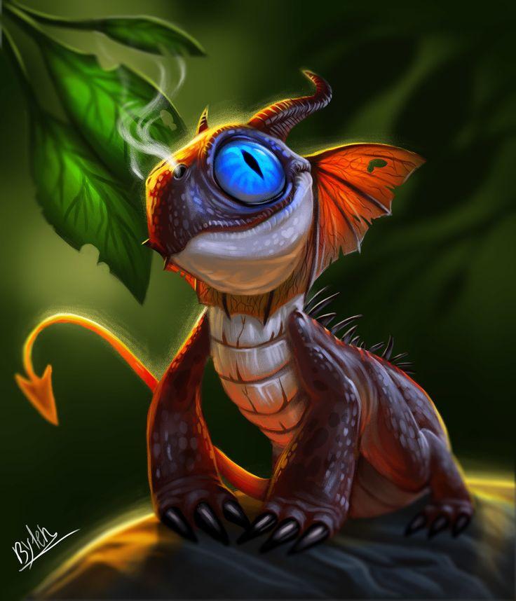 Little Dragon, Ester Conceiçao on ArtStation at https://www.artstation.com/artwork/6zkqx