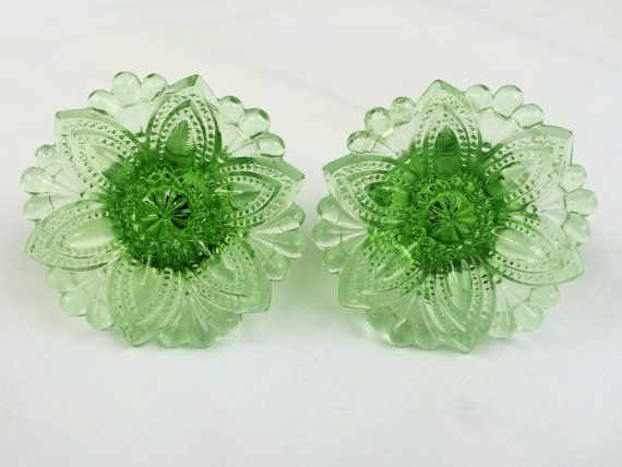 Pair of Vintage Glass Curtain Drapery Tie Backs by GoodOldDaysShop