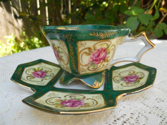 Sealy Tea cup Four Footed Four Sided by DimitrijNigodoff on Etsy